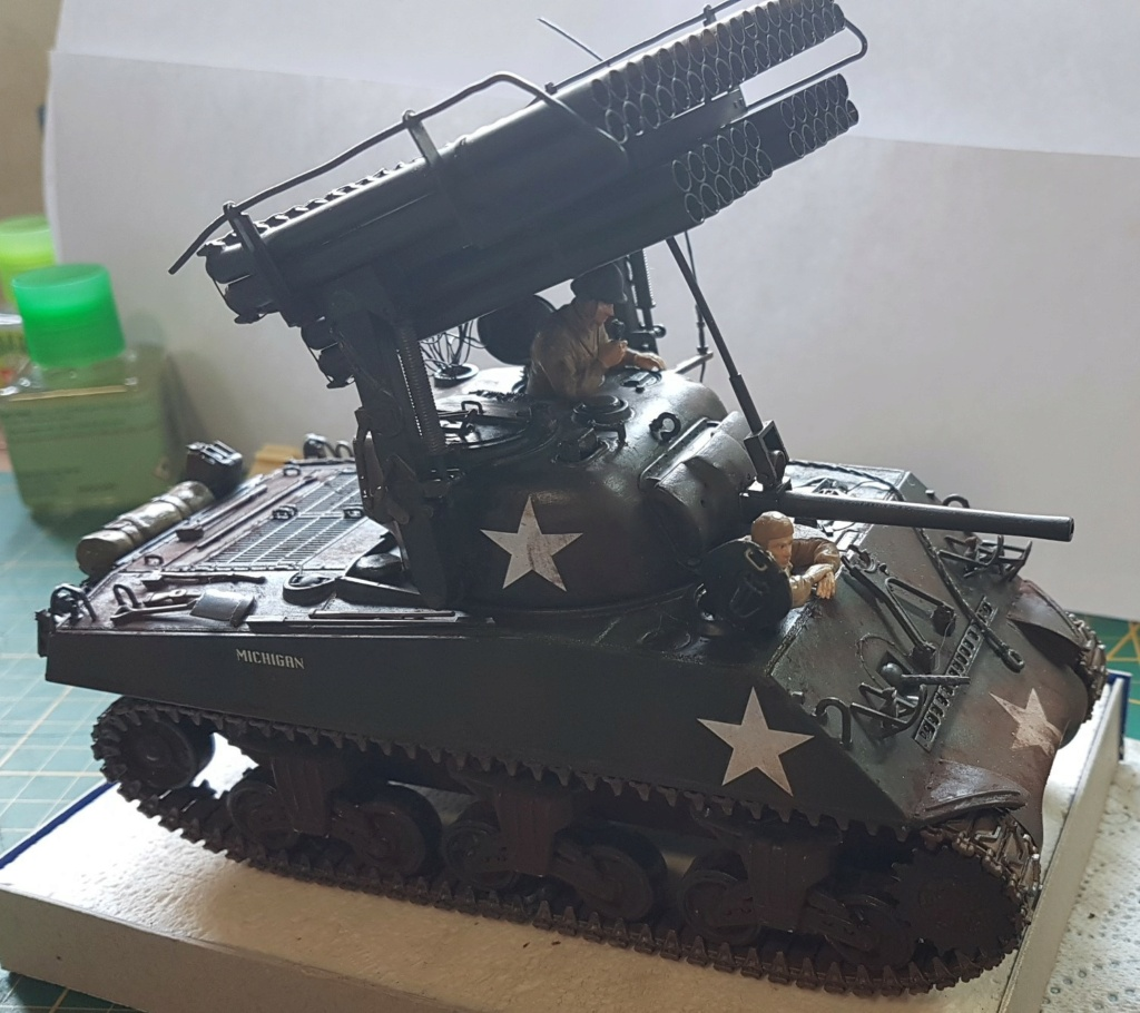 """Fil rouge 2021 * Sherman """"calliope"""" Revell 1/35 *** Terminé en pg 11 - Page 9 20210331"""