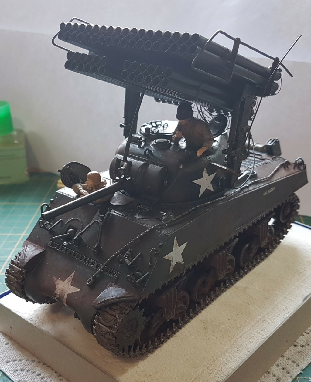 """Fil rouge 2021 * Sherman """"calliope"""" Revell 1/35 *** Terminé en pg 11 - Page 9 20210332"""