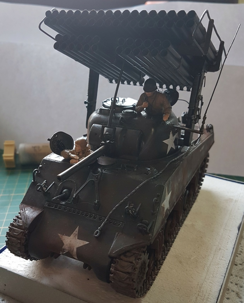 """Fil rouge 2021 * Sherman """"calliope"""" Revell 1/35 *** Terminé en pg 11 - Page 9 20210335"""