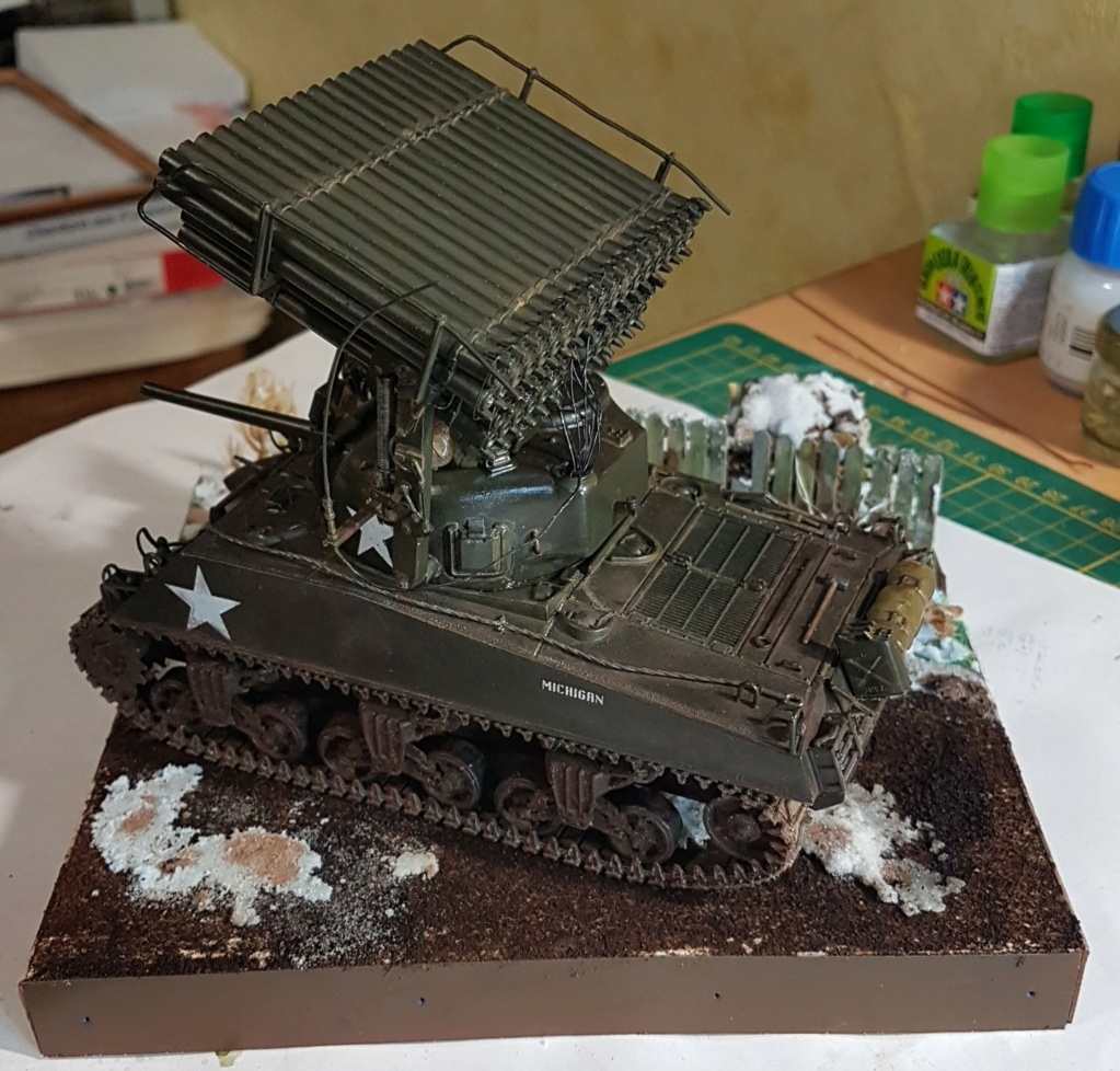 """Fil rouge 2021 * Sherman """"calliope"""" Revell 1/35 (terminé en page 11) - Page 11 20210420"""