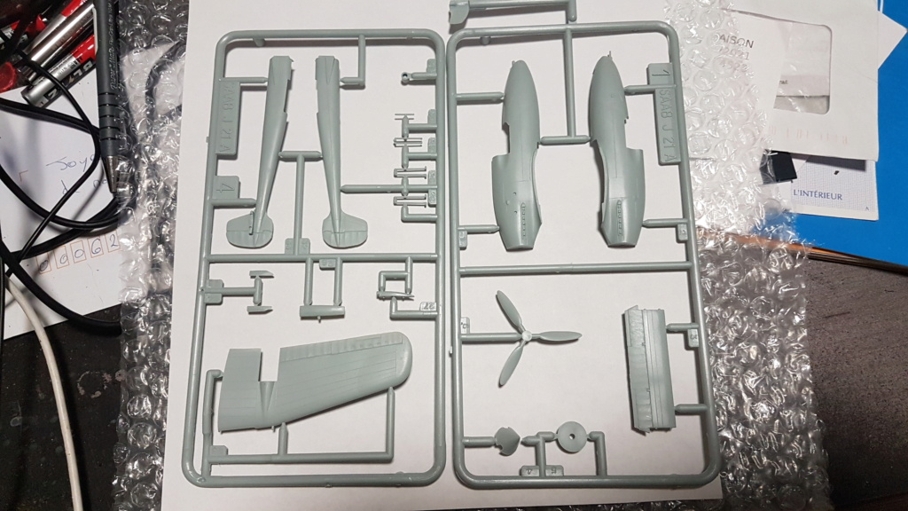 SAAB J-21 A  Heller 1/72 from the box 20210523