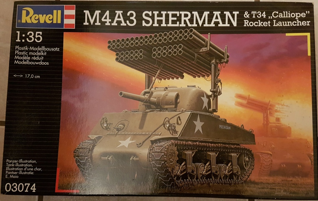 "Fil rouge 2021 * Sherman ""calliope"" Revell 1/35 (terminé en page 11) Revell11"