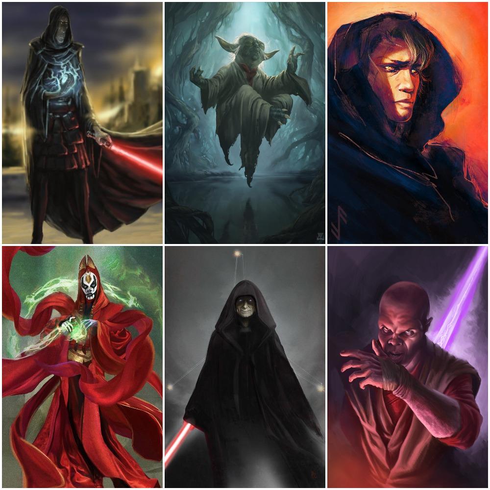 Darth Plagueis, Yoda & Anakin Skywalker vs Mother Talzin, Darth Sidious & Mace Windu Mycoll10