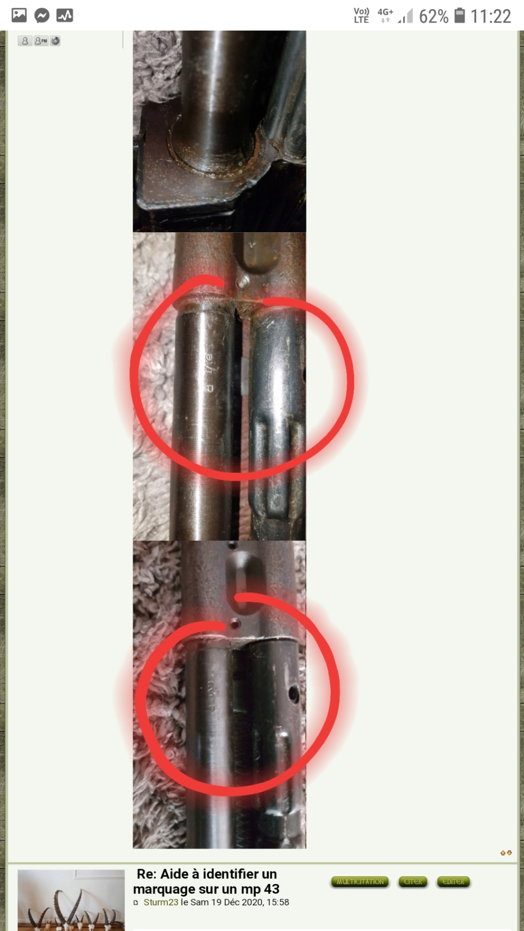Aide à identifier un marquage sur un mp 43  20201213