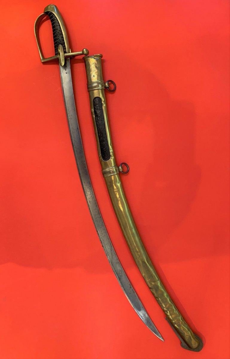 Sabre de Chasseur à Cheval de la Garde Impériale pour inspection. 114