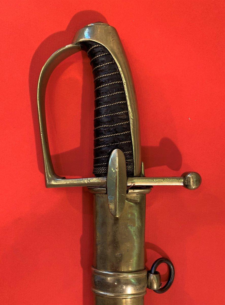 Sabre de Chasseur à Cheval de la Garde Impériale pour inspection. 310