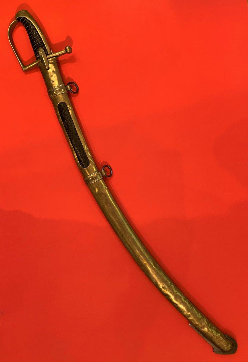 Sabre de Chasseur à Cheval de la Garde Impériale pour inspection. 610