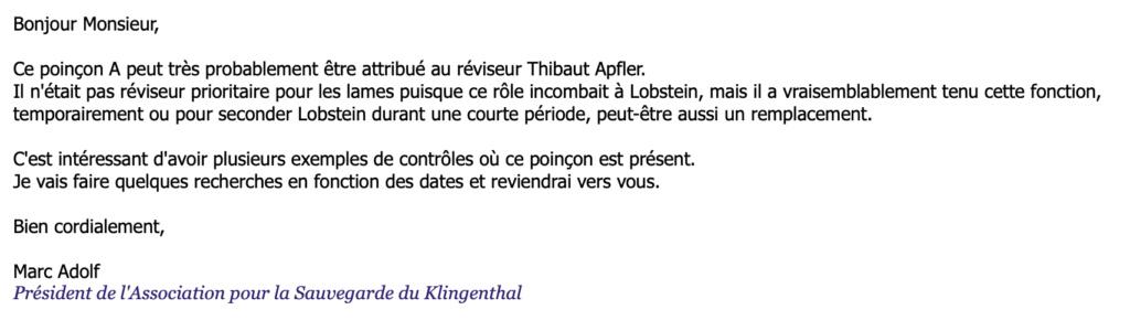 """Sabres napoléoniens avec poinçon """"A"""" Scherm10"""