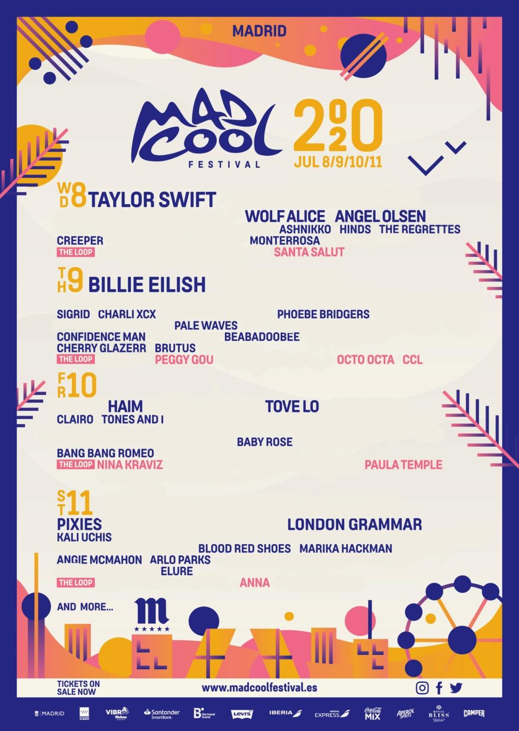Mad Cool 2020 // Billie Eilish, Faith No More, Deftones, Anderson .Paak, Kali Uchis, Rex Orange County... Mc202011