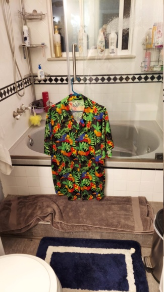 Hubby's new shirt 20210815