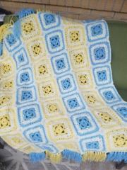 Current baby blanket completed, crochet Coooer10