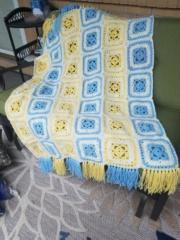 Current baby blanket completed, crochet Cooper11