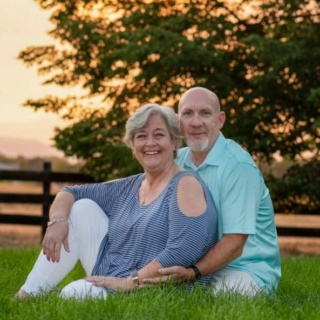 hubby and I on our sunset photo shoot Us10