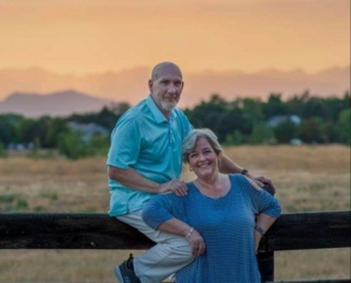 hubby and I on our sunset photo shoot Us110