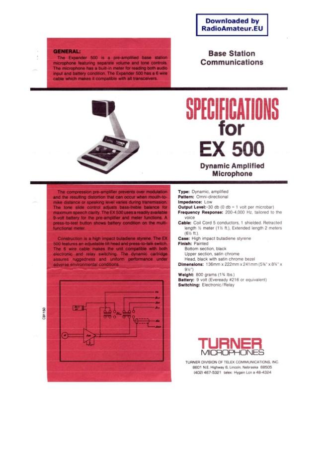 EuroCB - Turner Expander 500 (Micro de table) Page-110