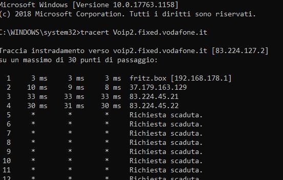 Connessione internet e voip con il 7530 e vodafone adsl2+ 20 mb. Cattur13