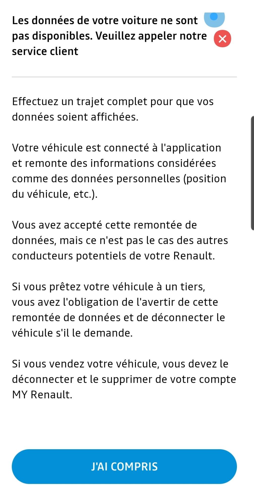 Problème application Android My Renault Smarts17