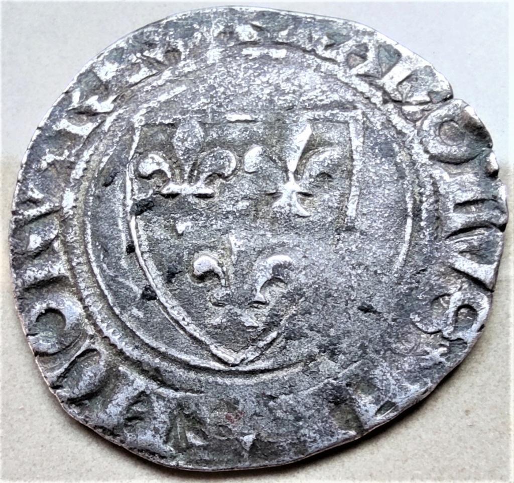 Blanc guénar de Charles VI vraisemblablement de l'atelier de Ste Menehould en 1411 16177810