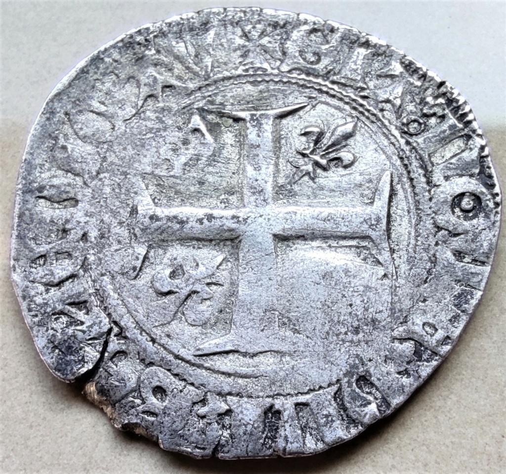 Blanc guénar de Charles VI vraisemblablement de l'atelier de Ste Menehould en 1411 16177811