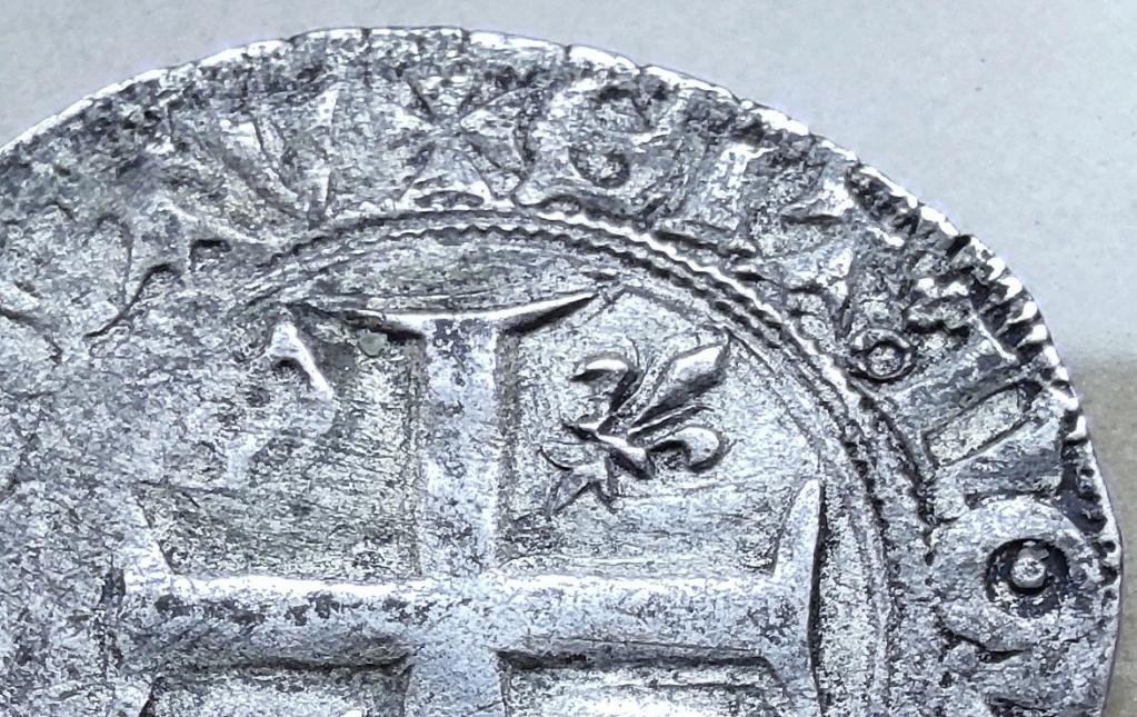 Blanc guénar de Charles VI vraisemblablement de l'atelier de Ste Menehould en 1411 16177813