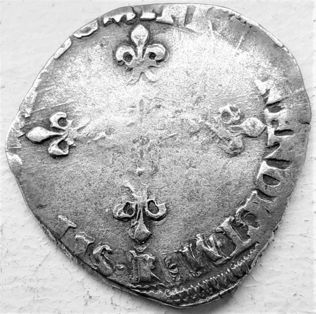 Henri III Double sol parisis 2e type 1582 R Villeneuve St A. les Avignon, fauté BENENDICTM 16178611