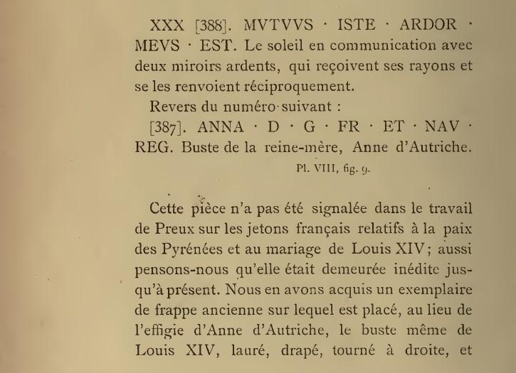 Jeton entrée de la reine à Paris 1660. 41410
