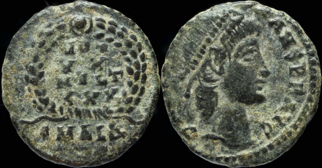 Nummus de CONSTANS sans doute émis en Cyzique (T surélevé en finale de MVLT au revers) 6813_i10