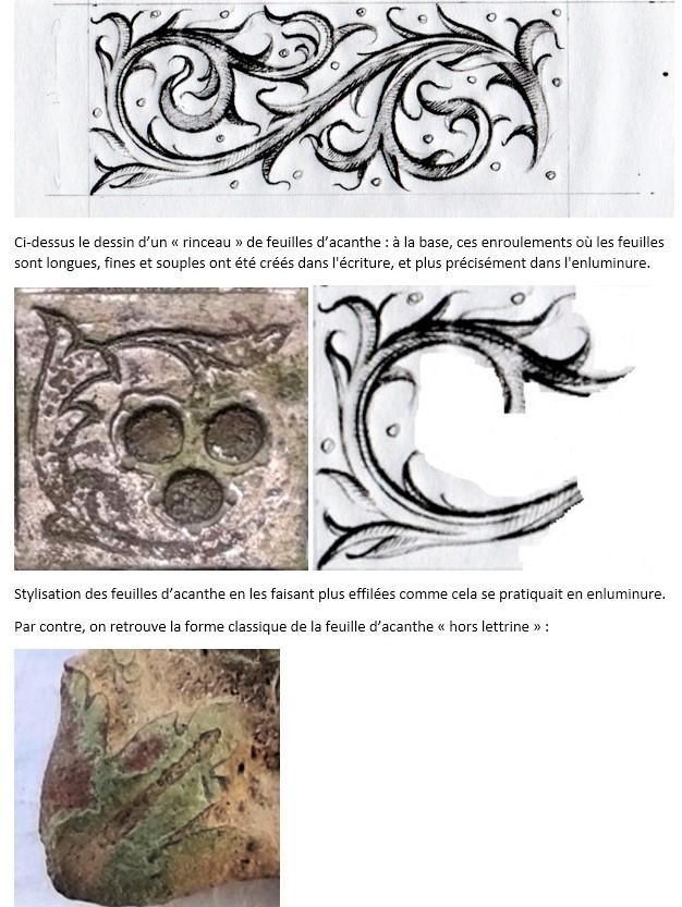 """Probablement petite broche ancienne, type """"héraldique"""", fin XVIIe - début XVIIIe Acanth11"""