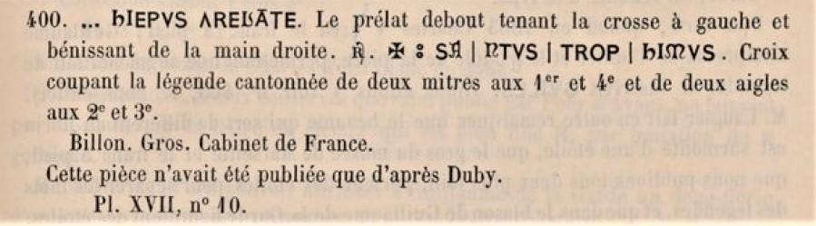 Double denier provençal, Archevêché d'Arles, famille Cibo ... Anonym12