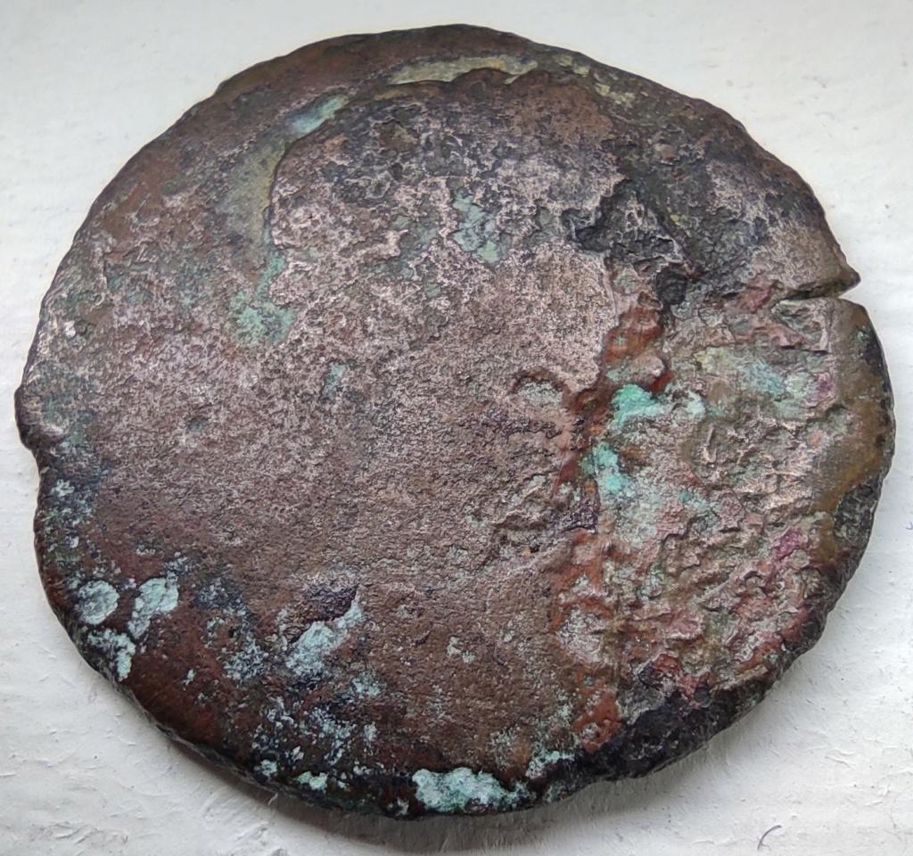 Probablement monnaie provinciale de Trajan, Alexandrie, an 14 du règne, au quadrige d'éléphants Avers_20