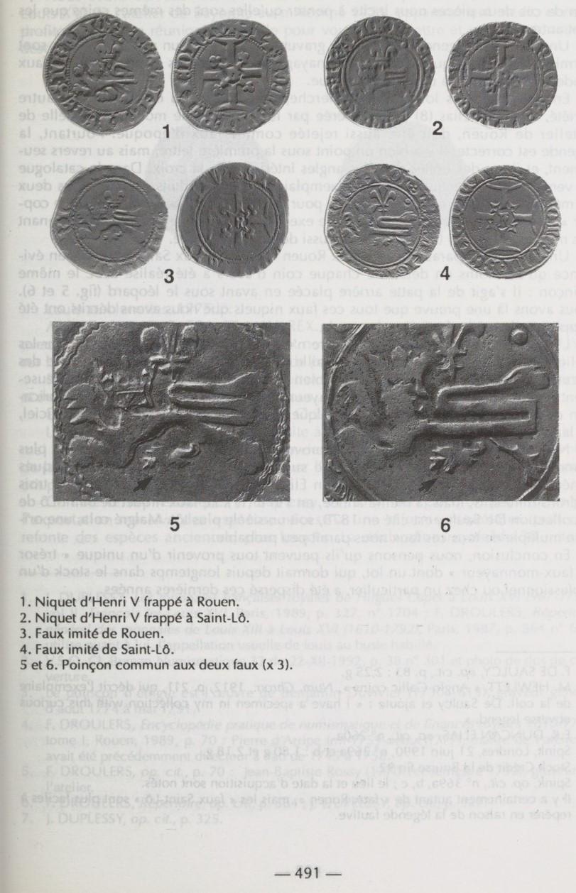 Henry V, Niquet ou Léopard de St Lô, vrai faux d'époque... Autres exemplaires à rechercher ! Bullet13