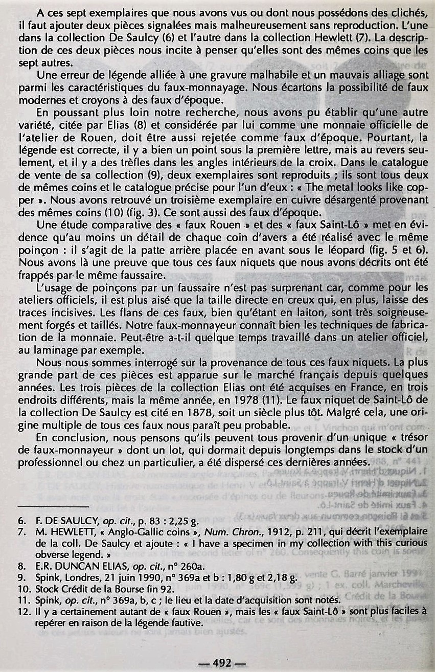 Henry V, Niquet ou Léopard de St Lô, vrai faux d'époque... Autres exemplaires à rechercher ! Bullet15