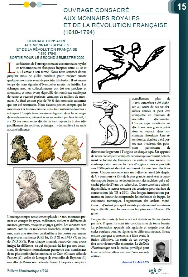 Ouvrage consacré aux monnaies royales et de la révolution française (1610-1794) Claira11