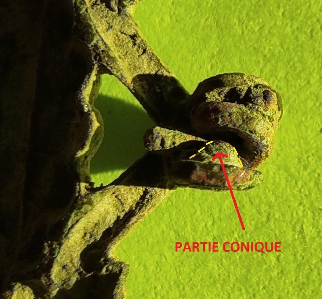 """Probablement petite broche ancienne, type """"héraldique"""", fin XVIIe - début XVIIIe Cotzo_15"""