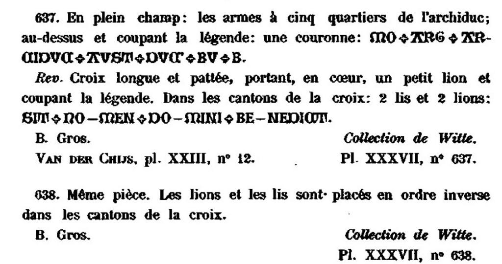 Gros émis lors de la minorité de Charles-Quint (entre fin 09/1506 et début 01/1515) Dewitt11
