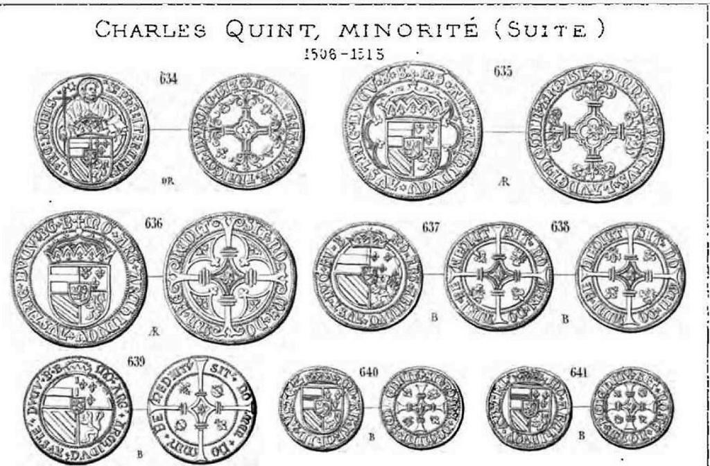 Gros émis lors de la minorité de Charles-Quint (entre fin 09/1506 et début 01/1515) Dewitt13