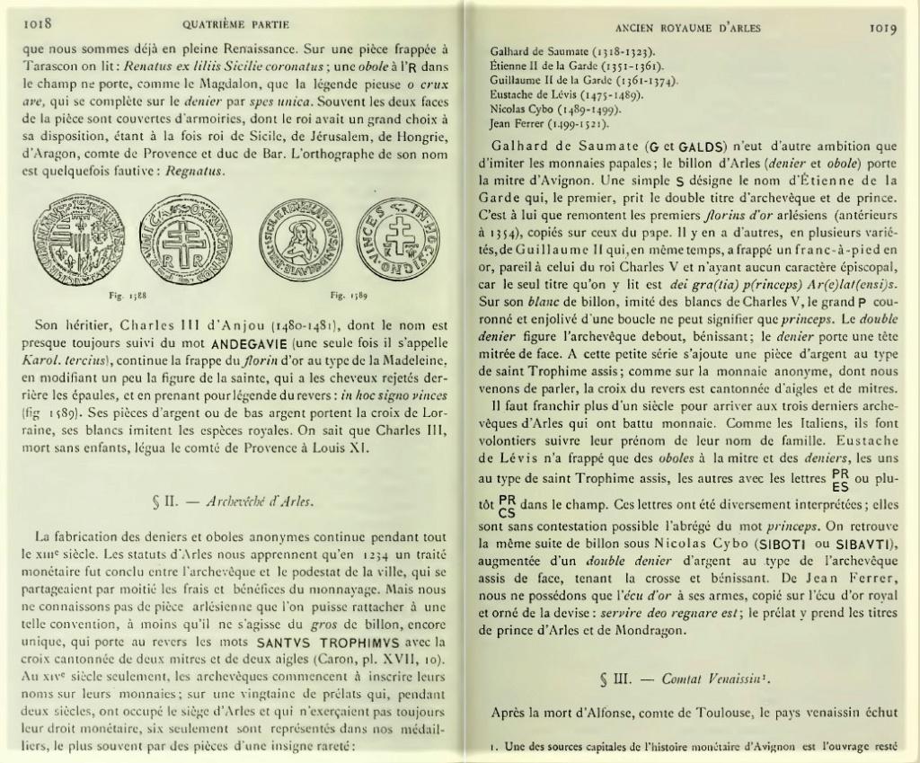 Double denier provençal, Archevêché d'Arles, famille Cibo ... Engel10