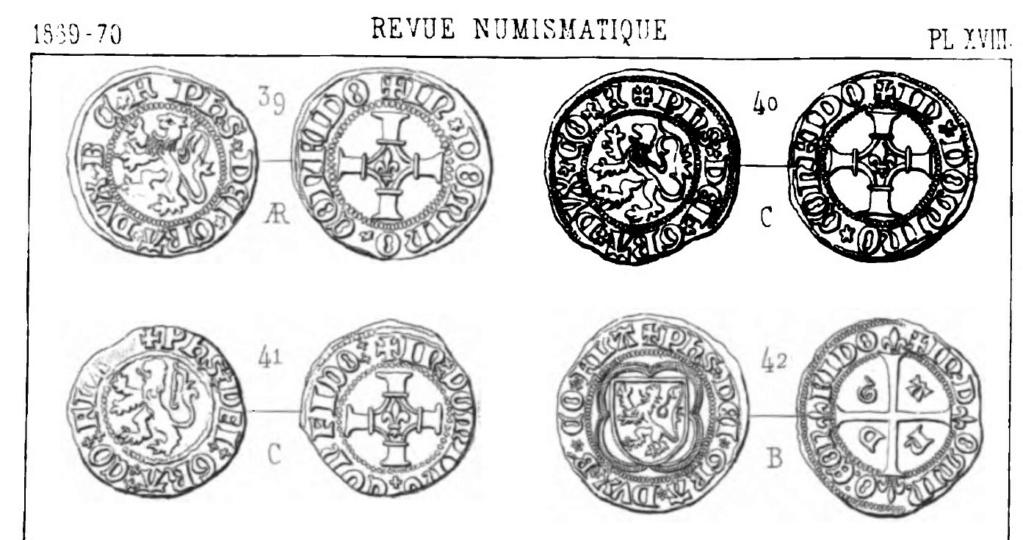 Double Mite de Philippe le Beau. Gand vers 1490 Extrai17
