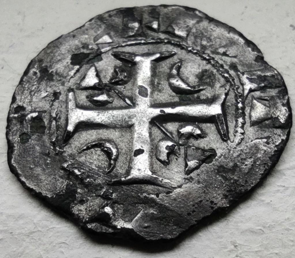 Denier champenois de l'archevéché de Reims pour Henri II (1227-1240) ... Face1210
