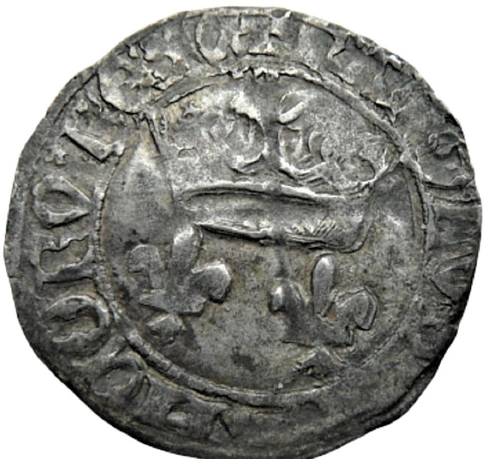 """Féodale, ou autre ? C'est """"autre"""" : une royale d'Henri V de Lancastre (niquet au léopard, Rouen) - Page 2 Faf08810"""