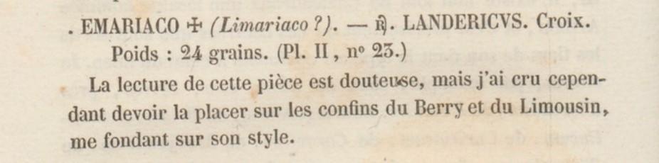 Trien méro d'Alleyrat (Elariaco) Corrèze (19), Landericvs monétaire ... Fillon10