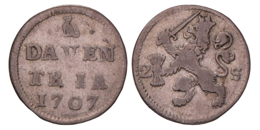 Double Stuiver de la Généralité des Provinces-Unies (Pays-Bas), peut être Gueldre 1678-1680 Image013