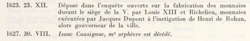 Identification des Différents d'un Douzain Louis XIII Huguenot Montpellier 1622 Contremarqué en 1640 Isaac_10