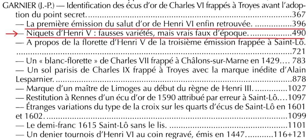 Henry V, Niquet ou Léopard de St Lô, vrai faux d'époque... Autres exemplaires à rechercher ! Jp_gar10