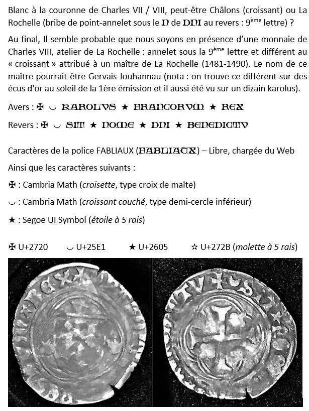 Existe t-il un ouvrage rassemblant les ateliers monétaires, maîtres et différents ? Karolv13