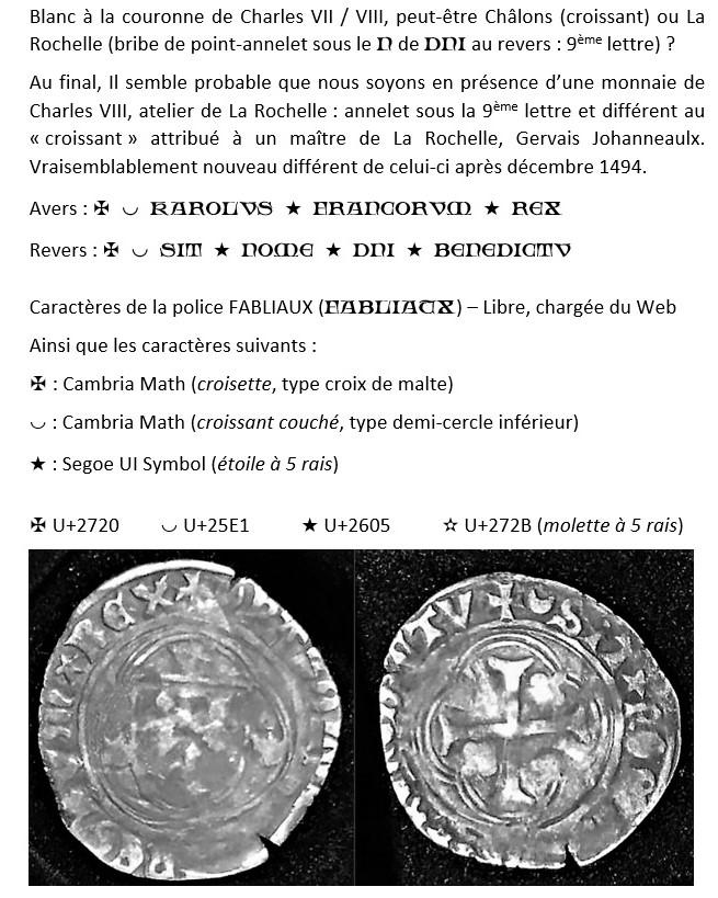 Existe t-il un ouvrage rassemblant les ateliers monétaires, maîtres et différents ? Karolv16