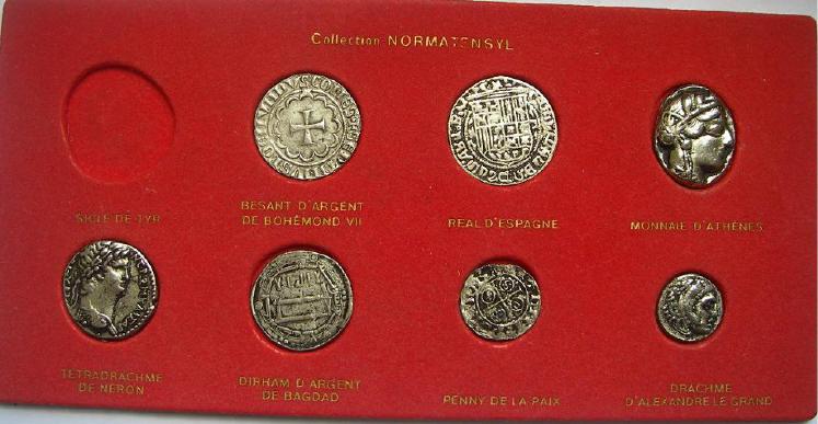 """Répliques de monnaies anciennes """"Normatensyl"""" ... Mm090610"""