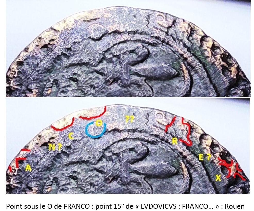 Denier Tournois de Louis XII, Rouen Montag10