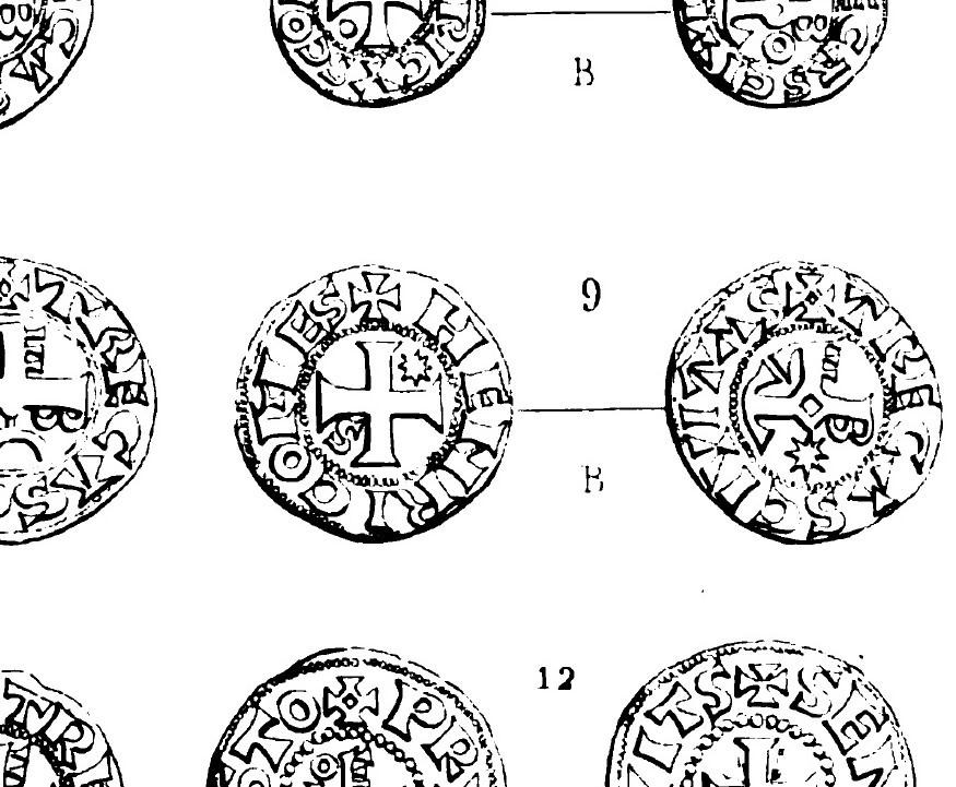 Denier de Billon d'Henri II de Troyes 1180-1197 (PA 5954) N910