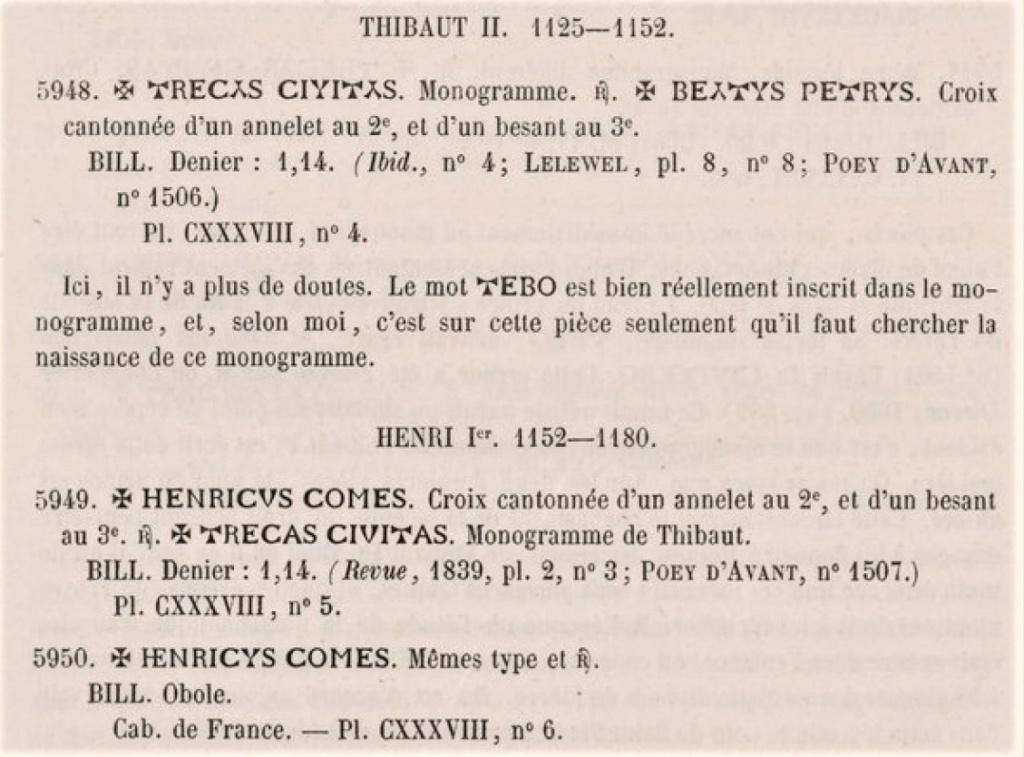 Denier de Billon d'Henri II de Troyes 1180-1197 (PA 5954) Pa_tom11